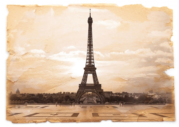 Postcard of eiffel tower