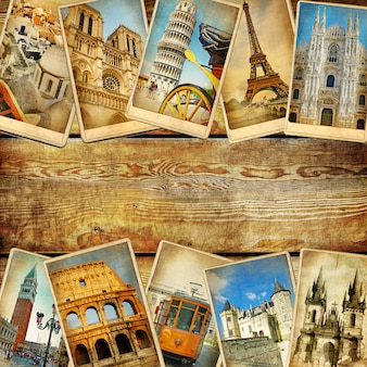 Postcard tourism