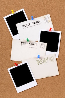 Postcards with blank photo prints