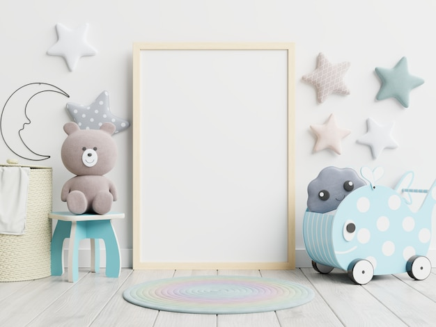 Poster frame in children room, kids room, nursery