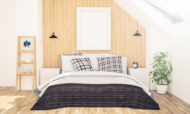 Рамка для постера на чердаке спальни
