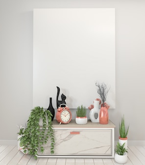 Poster granite cabinet and frame.