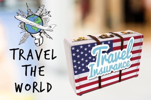 Плакат поездка в америку