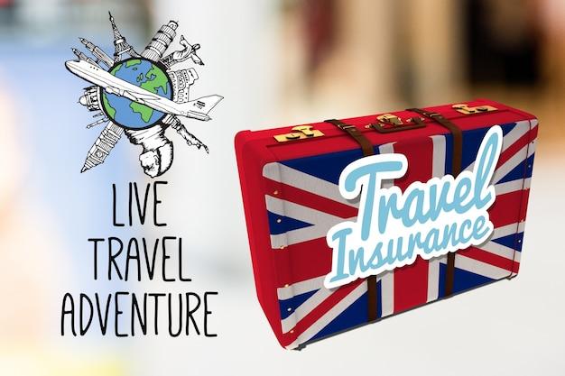 Плакат поездки в англию