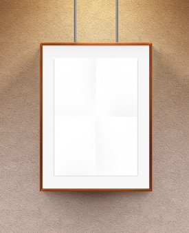 Poster in wooden frame.