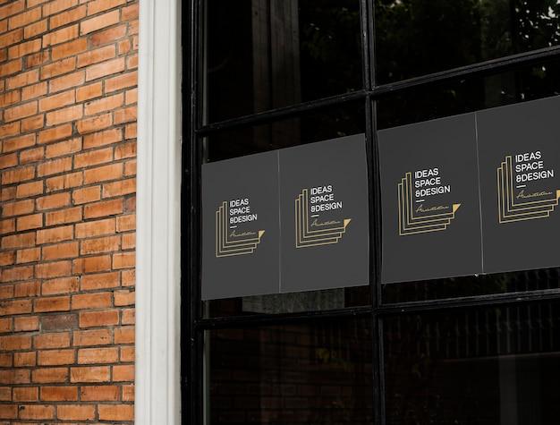 Плакаты на макет черного окна