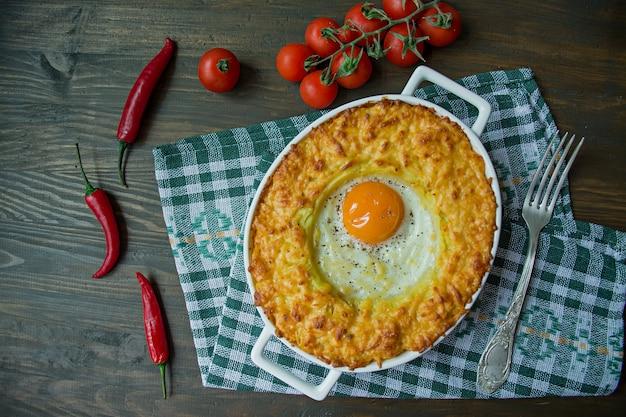 Potato casserole with bolognese