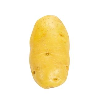 Картофель, изолированные на белом фоне с обтравочным контуром. вид сверху