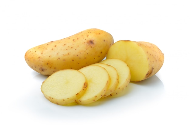Potato isolated on white space