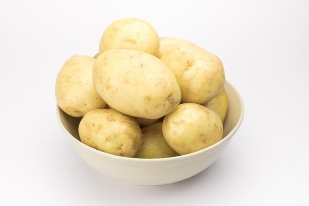 Potato on white