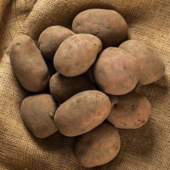 Potatoes on blanket