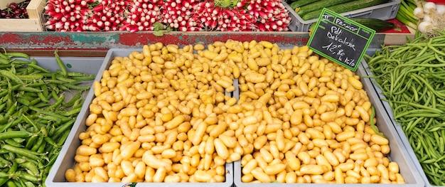 프랑스 시장의 감자