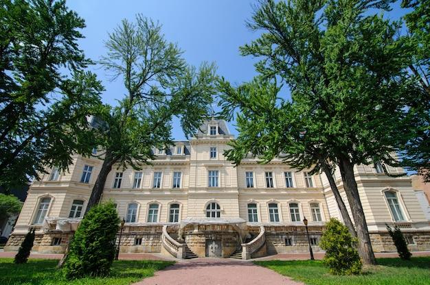 Potocki palace in lviv. the ancient building.
