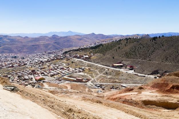 Потоси с высоты птичьего полета, боливия, шахтерский город боливии