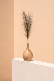 室内盆栽植物装饰极简室内设计