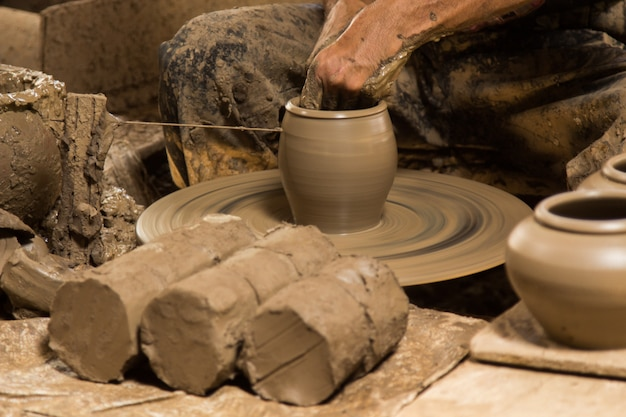 Pottery a handmade earthenware