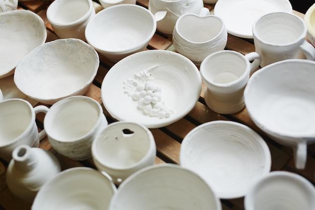 Pottery on white