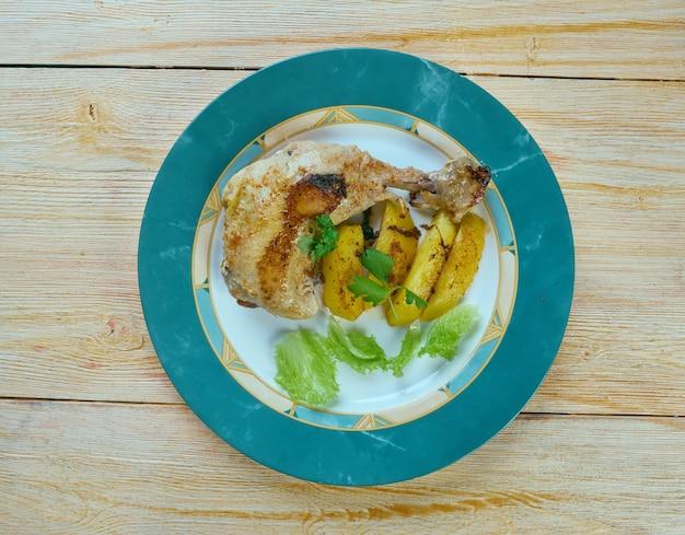 Poulet dijon le citron - курица с лимоном и горчицей по французски