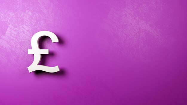 Знак фунта британской валюты у стены