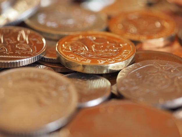Pound coins, united kingdom background