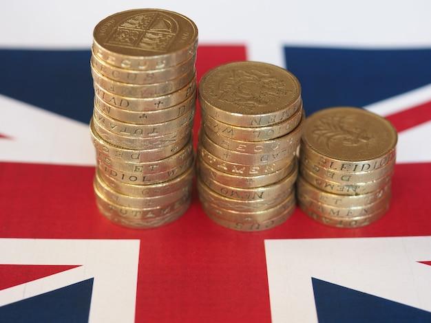파운드 동전, 플래그 위에 영국