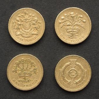 파운드 동전, 영국