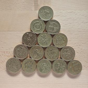 Pound coins, united kingdom