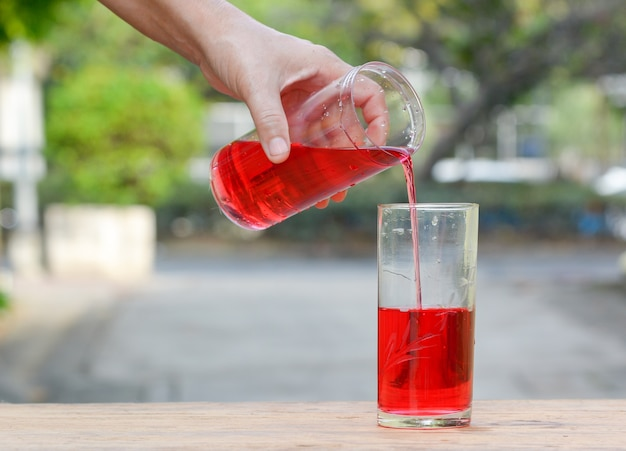 Pour sweet red water,
