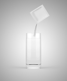 Pouring medicine into glass