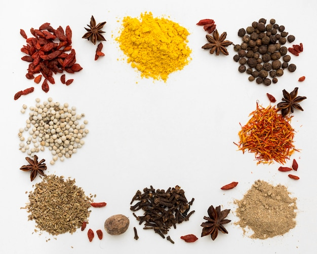 Powder condiments for cooking frame