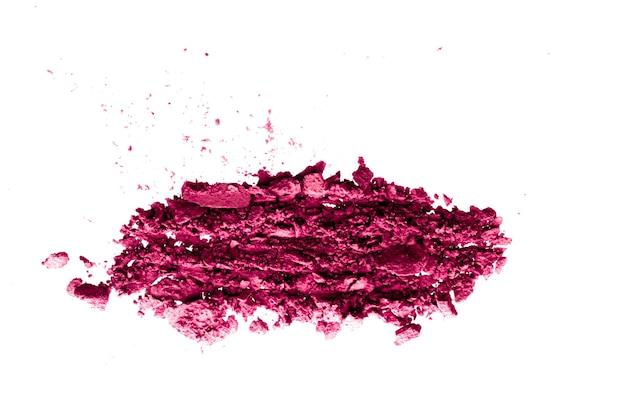 Порошковая косметика минеральные органические тени для век румяна или измельченный косметический продукт, изолированные на белом backg ...