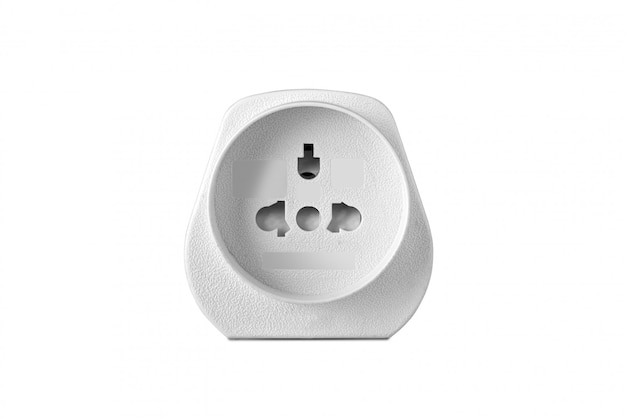 Power adapter on white