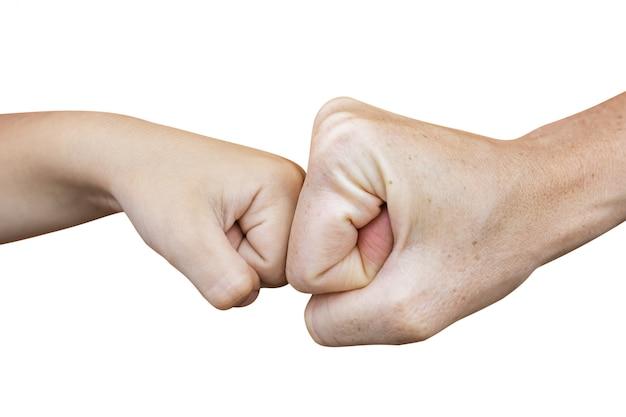 Power five, fist bump or brofist