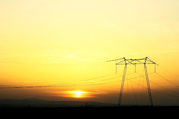 A power pole wire