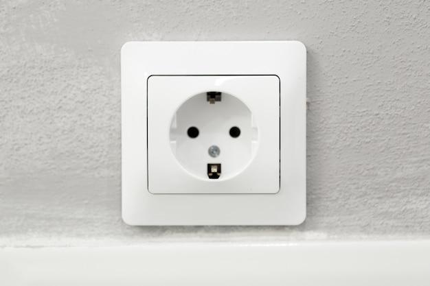 Power socket in concrete wall