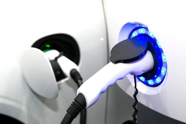 전기 자동차 충전 용 전원 공급 장치. 전기 자동차 충전소.