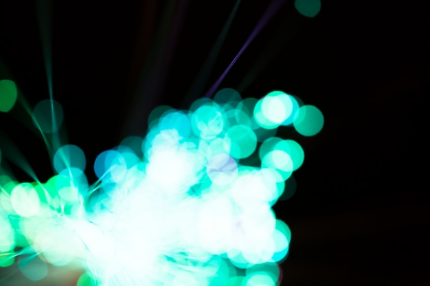 Powerful blurred blue light in fiber