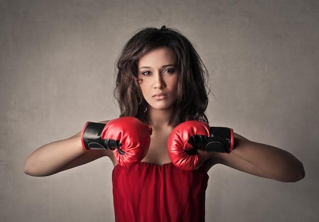 Powerful female warrior