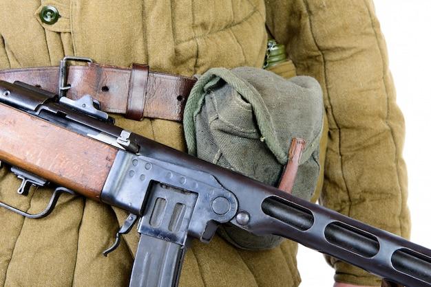 機関銃ppsh-41のクローズアップ