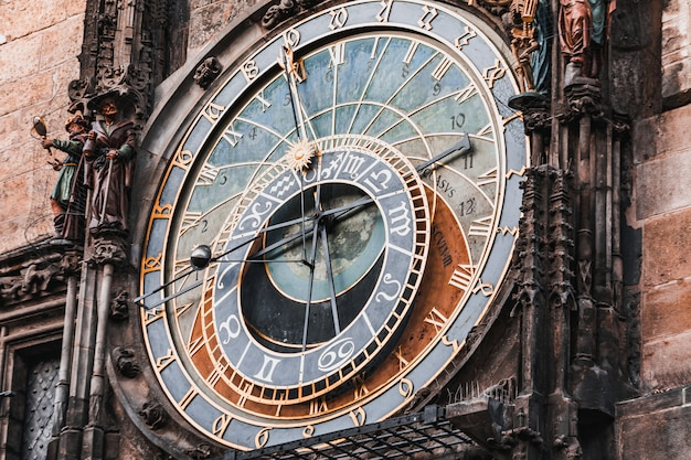 Prague astronomical clock in old town