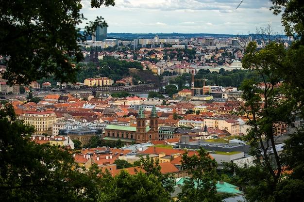 Вид на город прагу