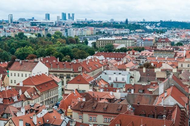 Prague, czech republic roofs of the city, beautiful view.