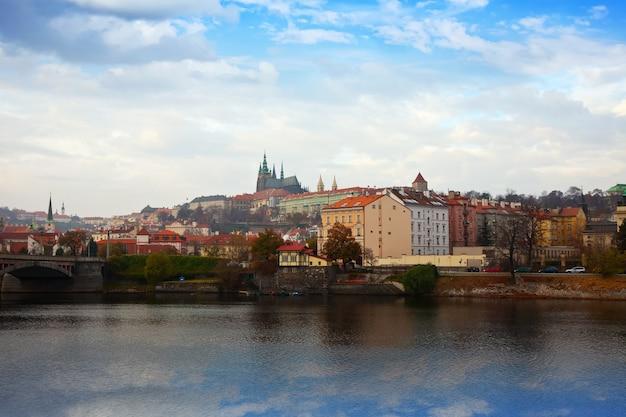 Prague from vltava side, czechia