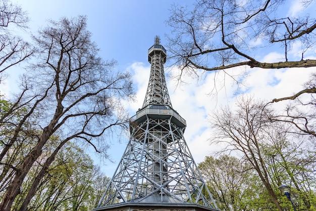 Prague lookout tower petrin similar to eiffel tower, prague, czech republic