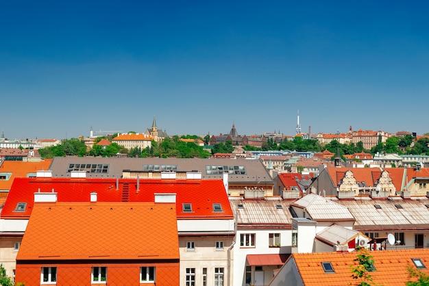 프라하 스카이라인 옥상 전망. 체코 공화국