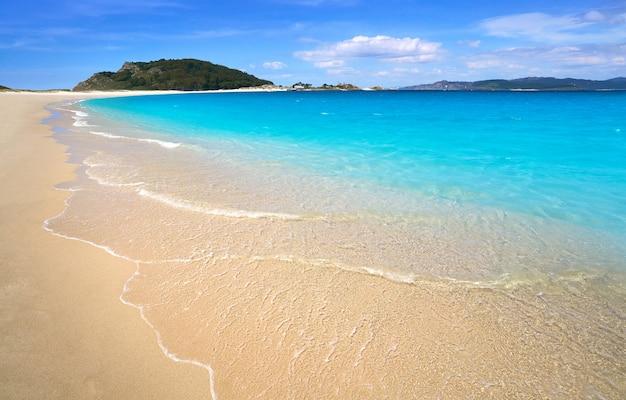 Praia de rodas beach in islas cies island vigo spain