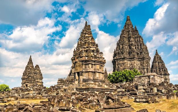 Prambanan temple near yogyakarta. in indonesia