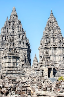Prambanan temple, yogyakarta on java island, indonesia Premium Photo