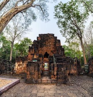 Prasat muang sing are ancient ruins of khmer temple in historical park at sai yok, kanchanaburi, thailand