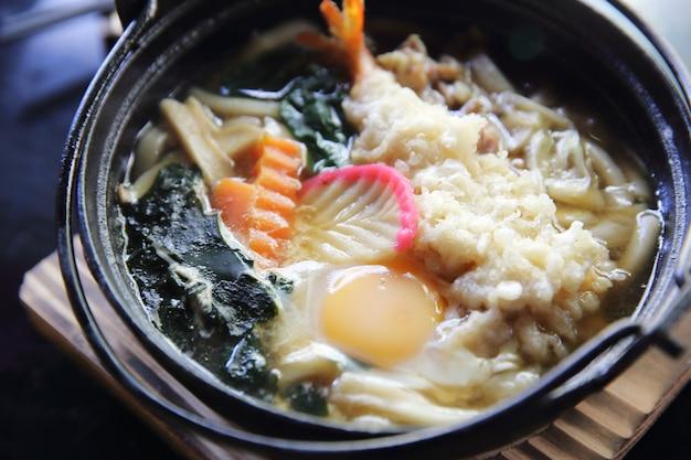 Креветки темпура удон японская кухня